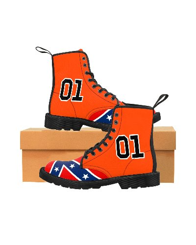 Dukes of Hazzard General Lee 01 canvas high-top boots
